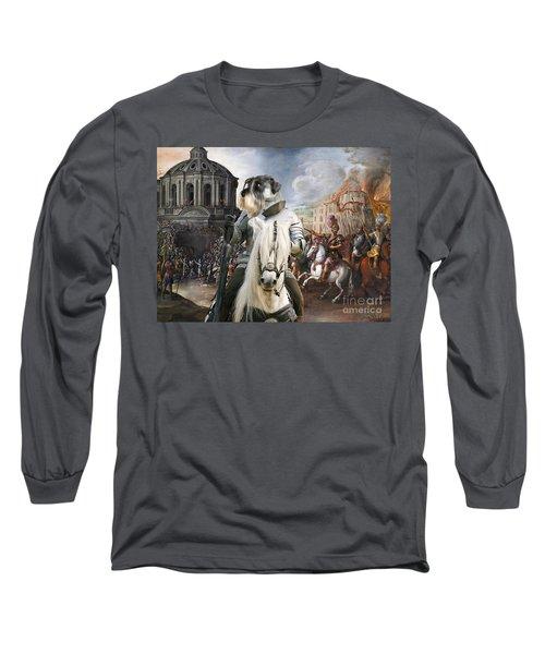 Schnauzer Art - A Siege The Sack Of Rome   Long Sleeve T-Shirt