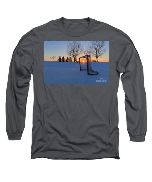 Scoring The Sunset Long Sleeve T-Shirt by Darcy Michaelchuk