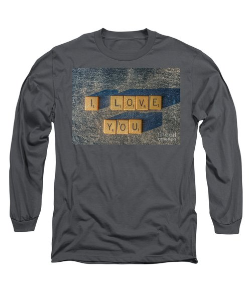 Scrabble I Love You Long Sleeve T-Shirt