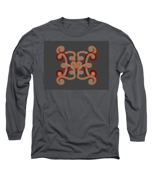 Long Sleeve T-Shirt featuring the digital art Scroll by Christine Fournier