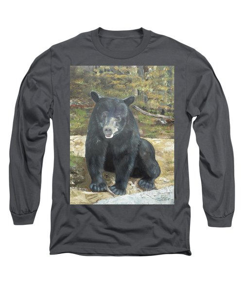 Long Sleeve T-Shirt featuring the painting Scruffy Again by Jan Dappen