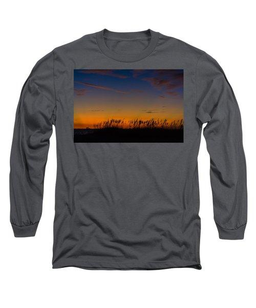 Sea Oats At Twilight Long Sleeve T-Shirt