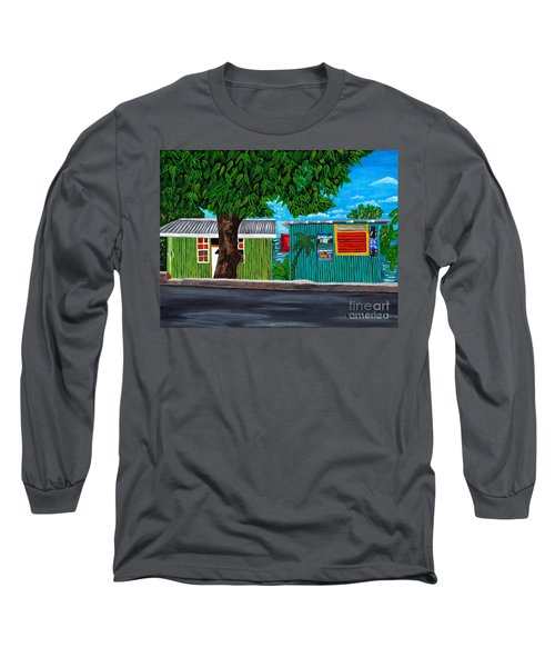 Sea-view Cafe Long Sleeve T-Shirt by Laura Forde