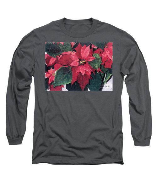Seasonal Scarlet 2 Long Sleeve T-Shirt by Barbara Jewell