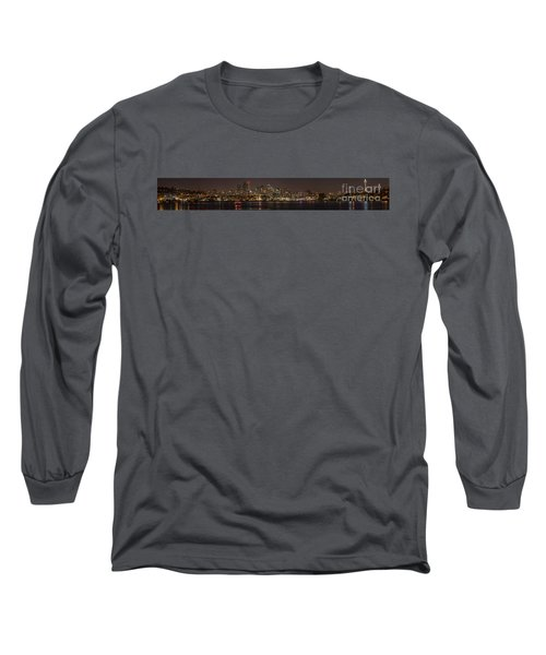 Seattle Lake Union Winter Reflection Long Sleeve T-Shirt