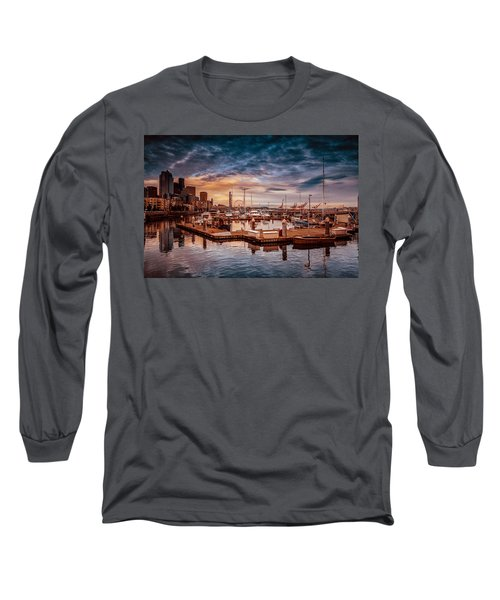 Seattle Marinescape. Long Sleeve T-Shirt
