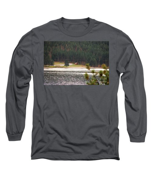 Secluded Cabin Long Sleeve T-Shirt by Mary Carol Story