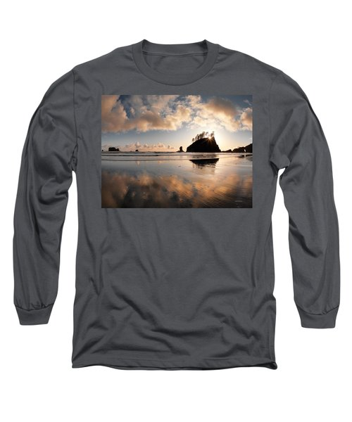 Second Beach Long Sleeve T-Shirt by Leland D Howard