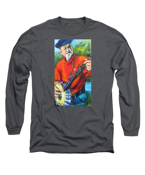 Long Sleeve T-Shirt featuring the painting Seeger by Les Leffingwell