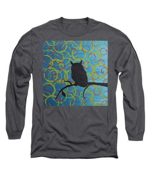 Long Sleeve T-Shirt featuring the painting Seer by Jacqueline McReynolds