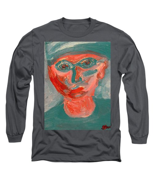 Self Portrait In Turquoise And Rose Long Sleeve T-Shirt