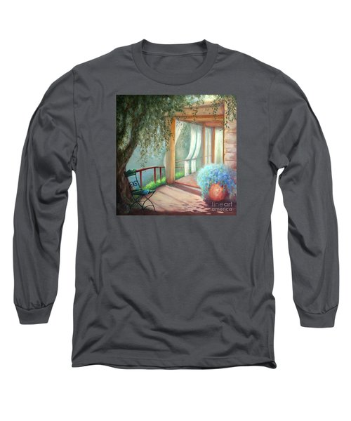 Long Sleeve T-Shirt featuring the painting Shade Of The Olive Tree by Michael Rock