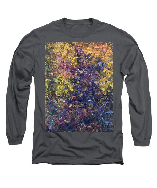 Long Sleeve T-Shirt featuring the painting Shadow Dance by James W Johnson
