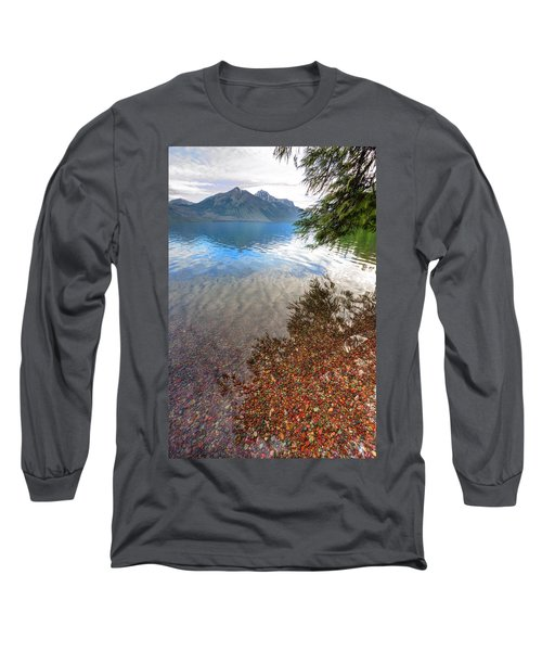 Long Sleeve T-Shirt featuring the photograph Shadow Pebbles by David Andersen