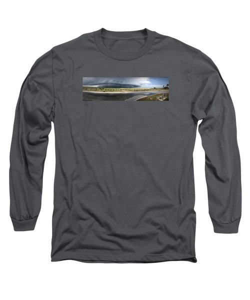Long Sleeve T-Shirt featuring the photograph Shell Island Squall by Phil Mancuso