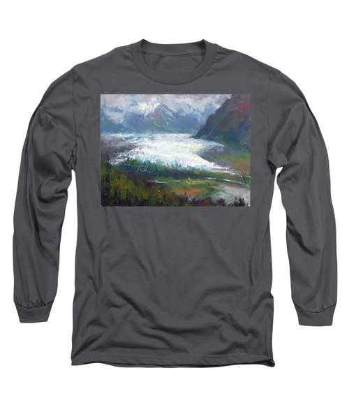 Shifting Light - Matanuska Glacier Long Sleeve T-Shirt