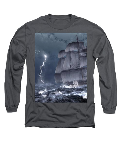 Ship In A Storm Long Sleeve T-Shirt