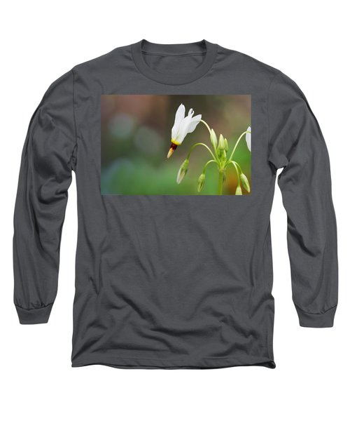 Shooting Star Wildflower Long Sleeve T-Shirt by Melinda Fawver