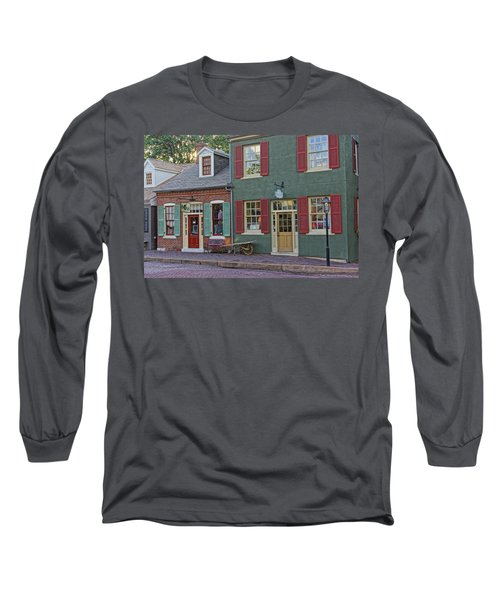 Shops S Main St Charles Mo Dsc00886  Long Sleeve T-Shirt by Greg Kluempers