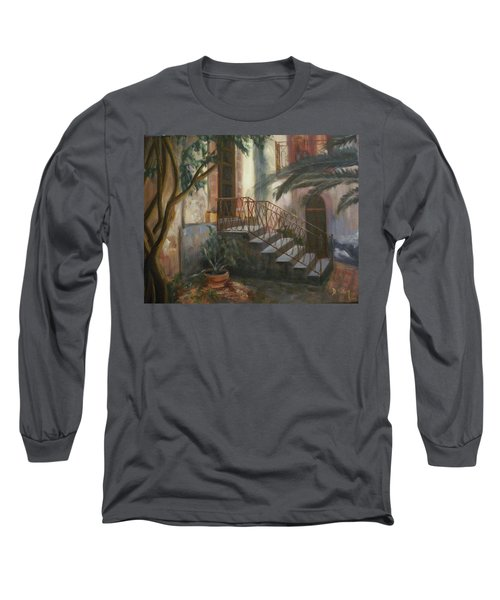 Long Sleeve T-Shirt featuring the painting Sicilian Nunnery by Donna Tuten