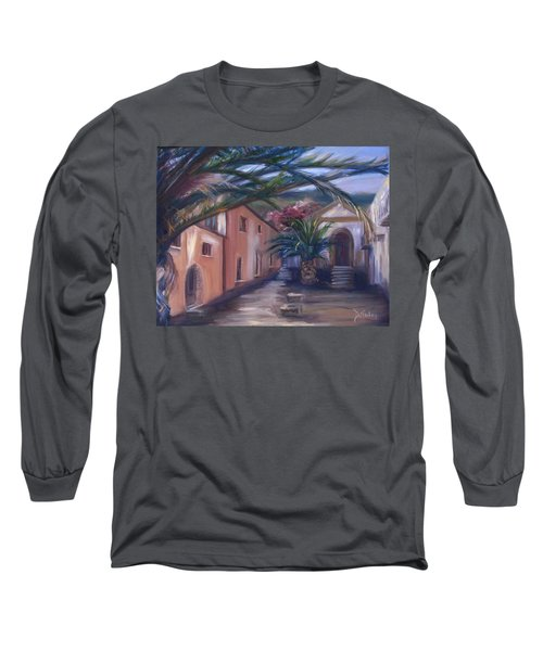 Long Sleeve T-Shirt featuring the painting Sicilian Nunnery II by Donna Tuten