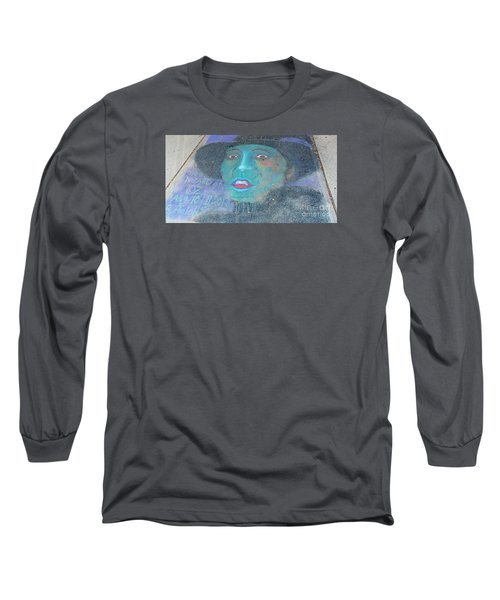 Long Sleeve T-Shirt featuring the photograph Sidewalk Halloween Contest by Janette Boyd