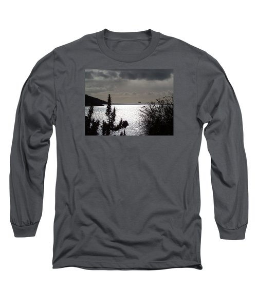 Silver Long Sleeve T-Shirt by Richard Brookes
