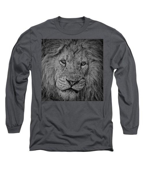 Silver Lion Long Sleeve T-Shirt