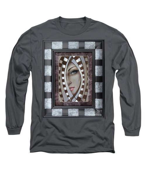 Silver Memories 220414 Framed Long Sleeve T-Shirt by Selena Boron