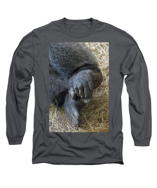 Long Sleeve T-Shirt featuring the photograph Silverback Toes by Robert Meanor