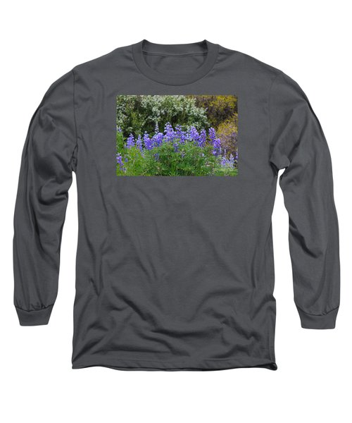 Long Sleeve T-Shirt featuring the photograph Silvery Lupine Black Canyon Colorado by Janice Rae Pariza