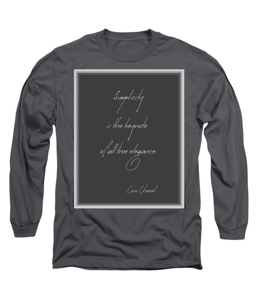 Simplicity And Elegance Long Sleeve T-Shirt