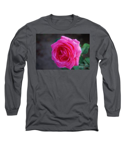Simply A Rose Long Sleeve T-Shirt by Angela J Wright