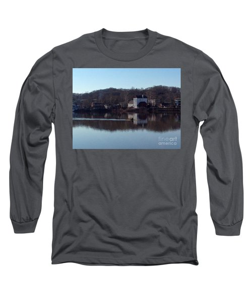 Single Scull On The Delaware Long Sleeve T-Shirt