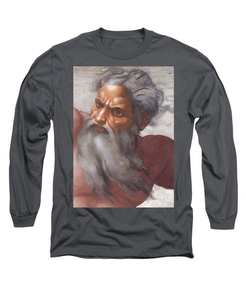 Sistine Chapel Ceiling Creation Of The Sun And Moon Long Sleeve T-Shirt