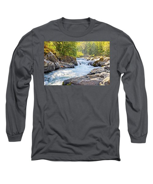 Skutz Falls At Cowichan River Provincial Park Long Sleeve T-Shirt