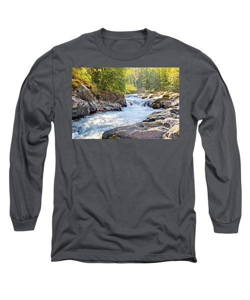 Skutz Falls At Cowichan River Provincial Park Long Sleeve T-Shirt