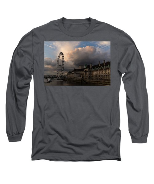 Sky Drama Around The London Eye Long Sleeve T-Shirt