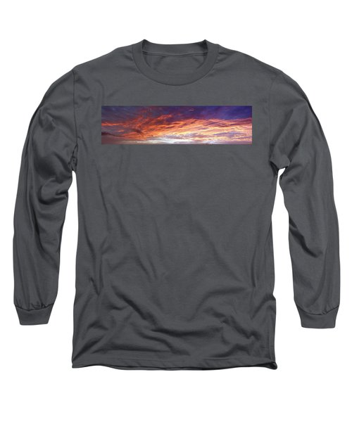 Sky On Fire Long Sleeve T-Shirt by Les Cunliffe
