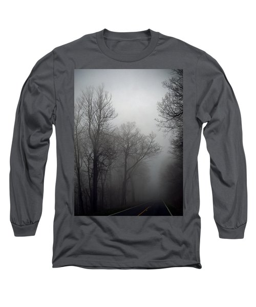 Skyline Drive In Fog Long Sleeve T-Shirt