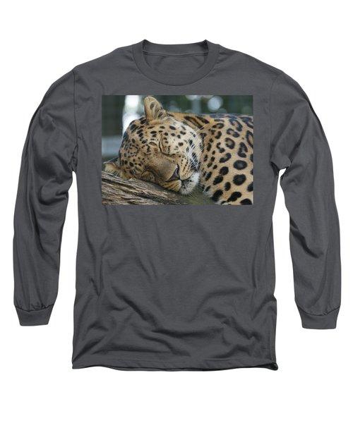 Sleeping Leopard Long Sleeve T-Shirt