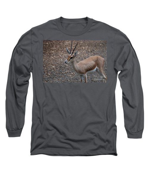 Slender Horned Gazelle Long Sleeve T-Shirt by DejaVu Designs