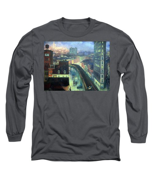 Sloan's The City From Greenwich Village Long Sleeve T-Shirt by Cora Wandel
