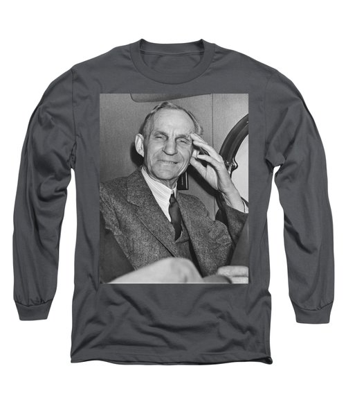 Smiling Henry Ford Long Sleeve T-Shirt by Underwood Archives