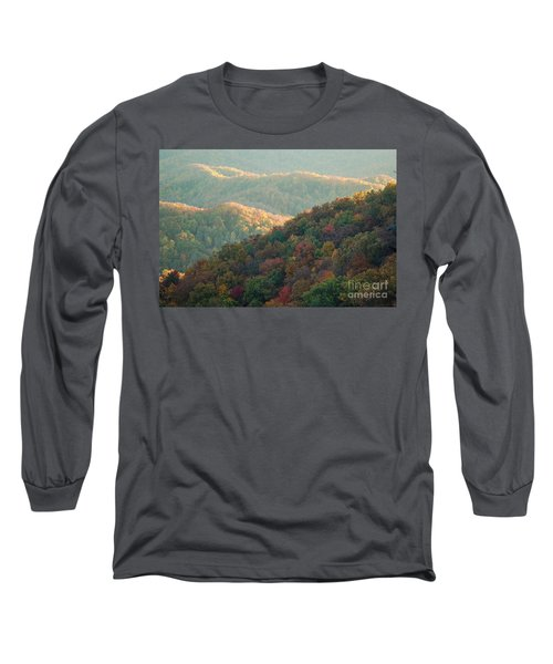 Smoky Mountain View Long Sleeve T-Shirt by Patrick Shupert