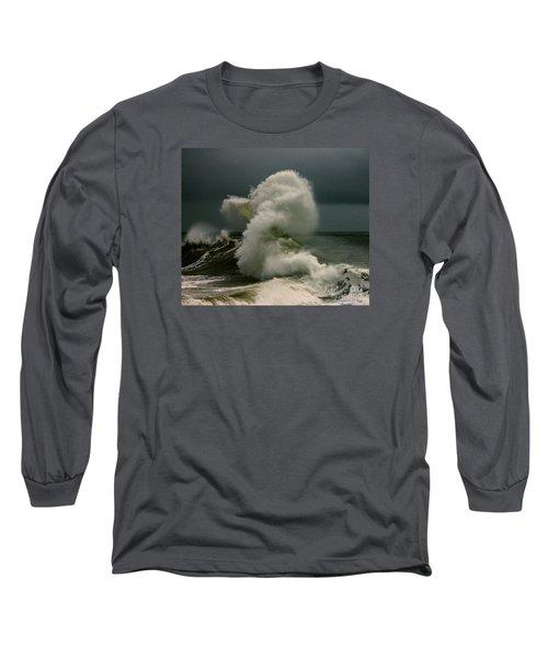 Snake Wave Long Sleeve T-Shirt by Michael Cinnamond