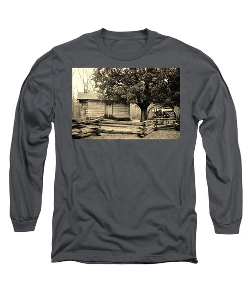Snodgrass Cabin And Cannon Long Sleeve T-Shirt by Daniel Thompson
