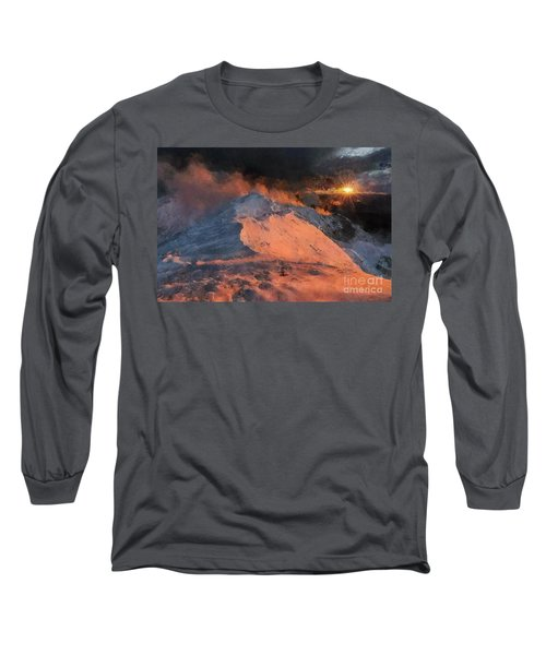 Snow Cap Sunset Long Sleeve T-Shirt