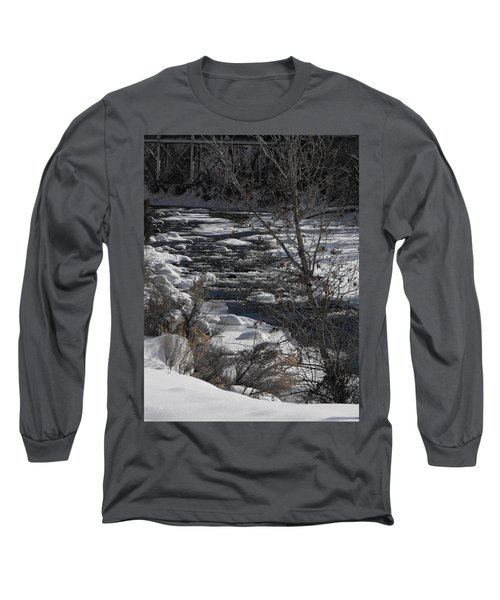 Snow Capped Stream Long Sleeve T-Shirt