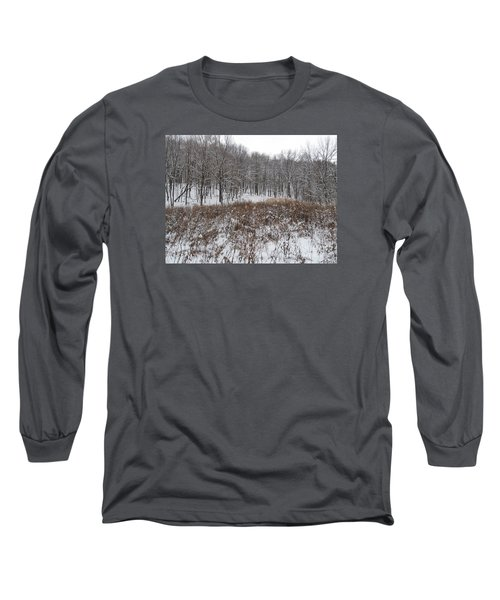 Snow Covered Woodland Long Sleeve T-Shirt